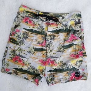 Hurley Hawaiian Swim Trunks Board Shorts